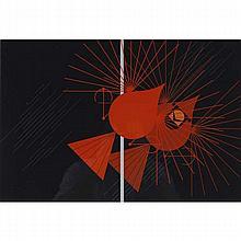 Charley Harper, American (1922-2007), Seeing Red (1977), Screenprint on paper, 21 1/4