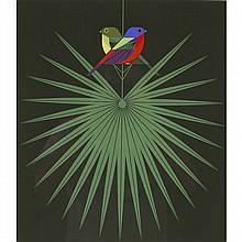Charley Harper, American (1922-2007), Flamboyant Feathers (1974), Screenprint on paper, 22 1/2