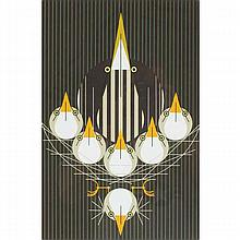 Charley Harper, American (1922-2007), Bittern Suite (1978), Screenprint on paper, 23 3/4