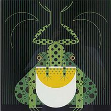 Charley Harper, American (1922-2007), Frog Eat Frog (1978), Screenprint on paper, 22