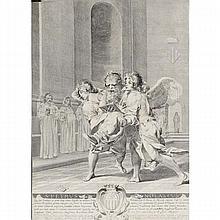 Claude Mellan (French; 1598-1688), 'S Petrus Nolascus'; Saint Peter Nolasque / Nolasco; anno 1627.