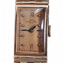 Gent's 14k rose gold Paul Ditisheim Solvil vintage wrist watch, ca. 1940s