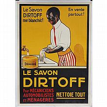 Le Savon Dirtoff French color lithograph advertising poster.