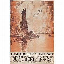 Two WWI color lithographic posters; Joseph Pennell, 'That Liberty Should Not Perish...Fourth Liberty Loan' and Harvey Dunn, 'Victory