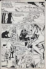 Original comic book art by George Kashdan and Dick Giordano ca. 1970s;