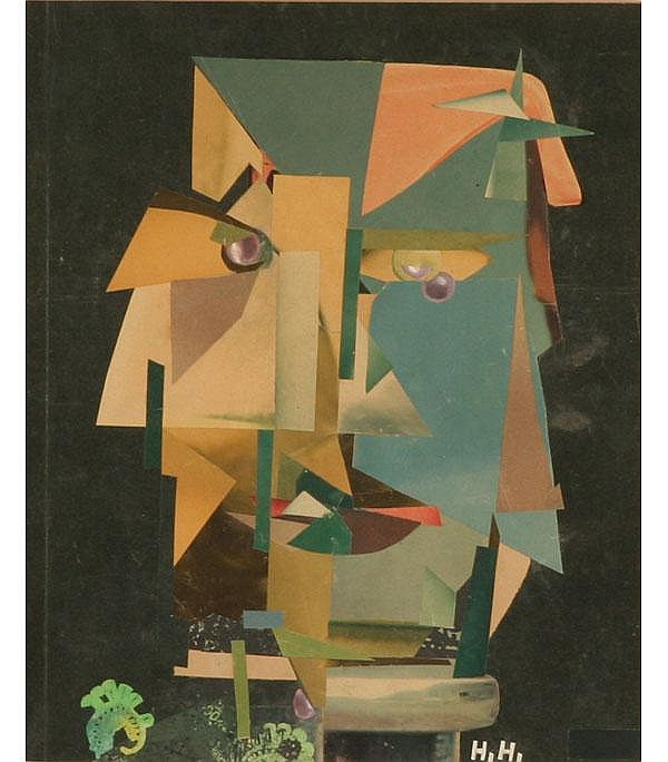 Hannah Hoch DaDa Surrealist Orig Collage