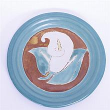 San Jose Mission Pottery plate; unmarked.