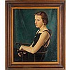 Edmund Brucker, (American; 1912-1999), Portrait of a young lady,