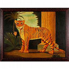 William Skilling, (New York / UK; b.1940), attributed: Tiger, oil on canvas, 36