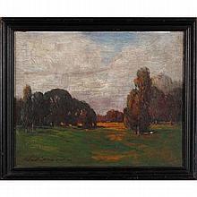 Thomas Jefferson Willison, (American; 1864-1940), Impressionist summer landscape, oil on board, 8