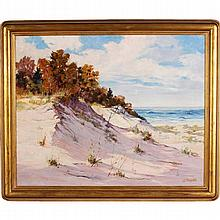 John Cowan Templeton, (Indiana/Illinois; 1880 - 1958), Indiana dunes landscape, oil on canvas, 24