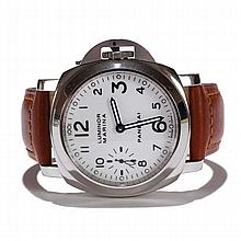 Men's Panerai Sport Watch Luminor, Marina Steel Box and Paperwork