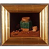 Chris Thomas, (American; b. 1970), still life with Chinese ginger jar, oil on panel, 8 1/2