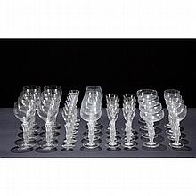 Royale De Champagne France 35pc. figural crystal stemware set