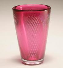 David Huchthausen, American; b. 1952, Air Trap Vessel, 1980, blown glass, 7 1/2
