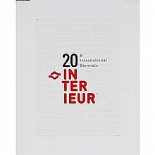 Commemorative portfolio of 20 Interieur International Biennale posters, 1968-2006.