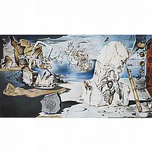 Salvador Dali, Spanish, 1904-1989, Apotheosis of Homer, Lithograph on paper, 30 1/2