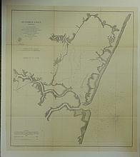 Metompkin Inlet, Long Boat Creek & Folly Creek in Virginia, 1862