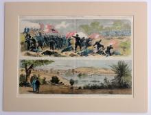 Civil War Scenes: Manassas, Bull Run & Richmond, Virginia,  Original Engraving 1862