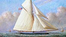 Cloud Runner, Oil Painting by D. Tayler