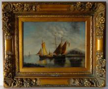The Harbor, Oil on canvas by Koaata