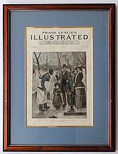 Sketches at National Capitol in Washington, DC, Frank Leslie's Illustrated, 1892 (Original Engraving in Custom Framing)
