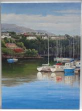 Solitude Harbor, Original Oil Painting