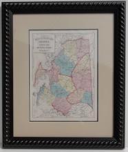 Original Maryland Map of Talbot, Queen Anne & Caroline Counties, Stedmann & Brown, 1873 (Custom Framed UV Glass)