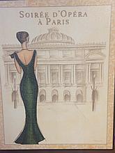 ICONIC Soirée d'Opéra à Paris DESIGNER WALL HANGER