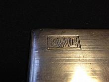 Antique Art Deco designed  Sterling Silver Cigarette Case with