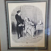 After Honore Daumier (French, 1808-1879) print