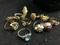 VINTAGE LARGE LOT OF 10 RINGS- PLEASE SEE PICTURES