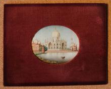 Miniature Painting on Ivory of the Taj-Mahal