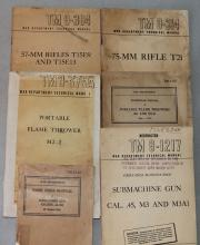 (6) WW2 Heavy Weapons, Flame Throwers, and Submachine Guns
