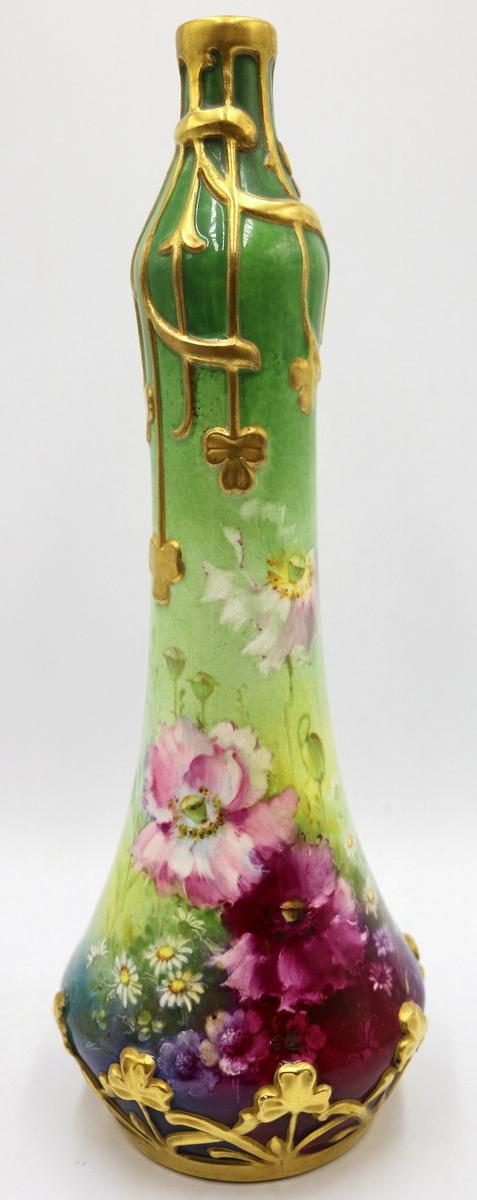 Antique Royal Bonn Hand Painted Porcelain Vase