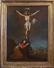 GUIDO RENI OIL PAINTING ON CANVAS CRUCIFIXION