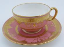 MINTON ENGLISH TIFFANY & CO TEA CUP & SAUCER
