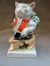Herend, Hungary porcelain cat statue