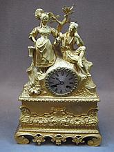 19th C. French bronze mantel clock