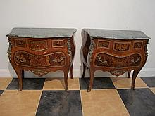 French Louis XV style pair of reproduction tables