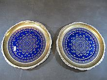 Antique pair of German porcelain plates
