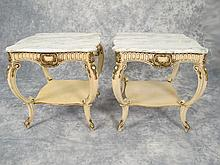Old pair of French Louis XV tables