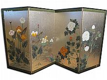 Antique Oriental folding screen