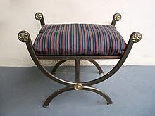 Antique English regilded iron stool