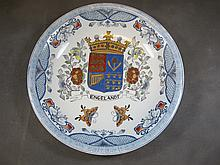 Old European porcelain plate