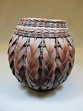 Antique Japanese Bamboo Ikebana basket