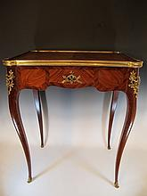 Antique French Louis XV ormolu side table