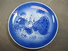Royal Copenhagen porcelain plate, signed