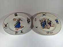Old pair of porcelain plates