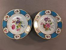 German pair of porcelain plates, Bavaria